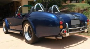 AC Cobra rear side Sydney Sports car rental